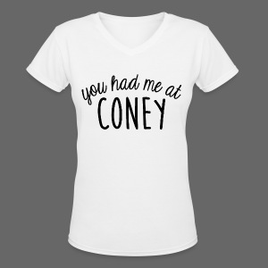 You Had Me At Coney - Women's V-Neck T-Shirt
