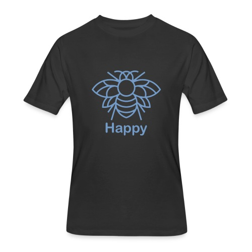 Bee Happy Tee - Men's 50/50 T-Shirt