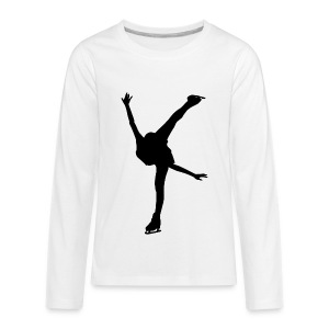 Figure Skating - Kids' Premium Long Sleeve T-Shirt