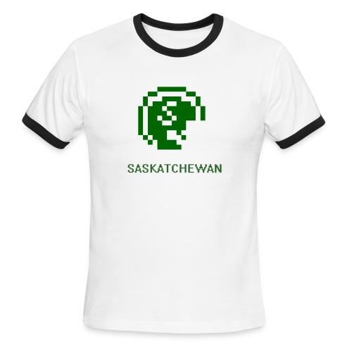8-Bit Saskatchewan Ringer - Men's Ringer T-Shirt
