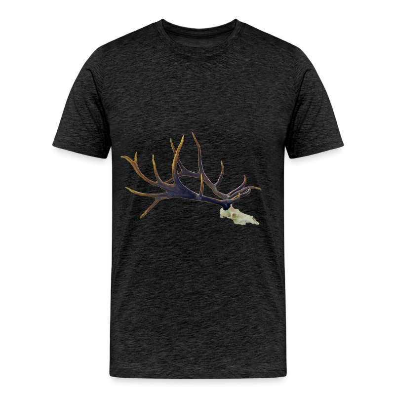 Bull elk skull European mount, side - Men's Premium T-Shirt