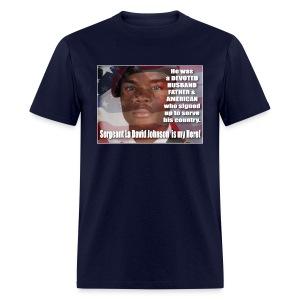 Sergeant La David Johnson  is my Hero - Men's T-Shirt