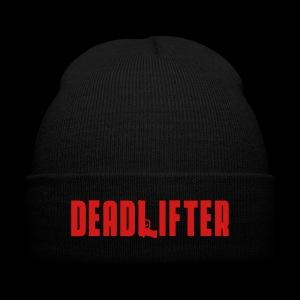 DEADLIFTER BEANIE - Knit Cap with Cuff Print