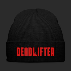 DEADLIFTER BEANIE - Knit Cap with Cuff Print