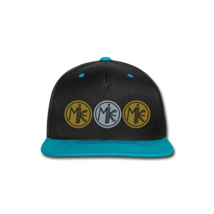 M.I.K.E. (SHINY GOLD & SHINY SILVER Hat) - Snap-back Baseball Cap