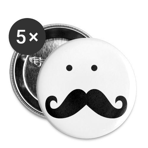 Mustache Button - Large Buttons