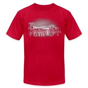 World's Greatest Skyline - Men's Fine Jersey T-Shirt