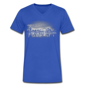 World's Greatest Skyline - Men's V-Neck T-Shirt by Canvas