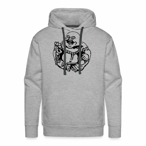Laughing Buddha with Lotus Flower Hoodie - Men's Premium Hoodie