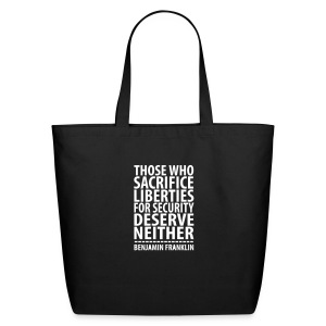 * LIBERTIES FOR SECURITY *  - Eco-Friendly Cotton Tote