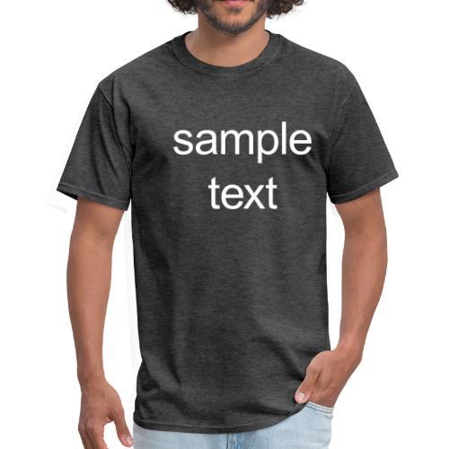 Sample text - Men's T-Shirt