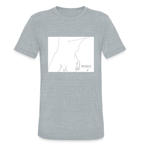 T-Rex Trying to take his own profile pic... - Unisex Tri-Blend T-Shirt