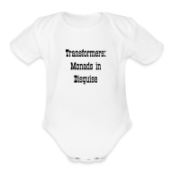 Baby Bodysuits ~ Baby Short Sleeve One Piece ~ Transformers: Monads in Disguise for Babies