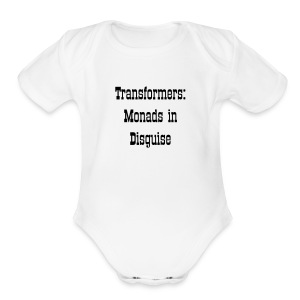 Transformers: Monads in Disguise for Babies - Short Sleeve Baby Bodysuit