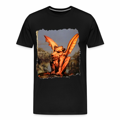 Gargoyle Dog - Men's Premium T-Shirt