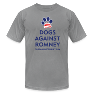 T-Shirts ~ Men's T-Shirt by American Apparel ~ Official Dogs Against Romney