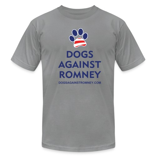 Official Dogs Against Romney Paw Men's Jersey T-Shirt - Men's Fine Jersey T-Shirt