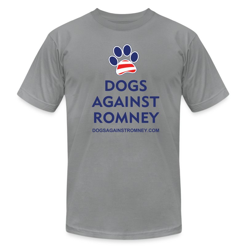Official Dogs Against Romney Paw Men's Jersey T-Shirt - Men's T-Shirt by American Apparel
