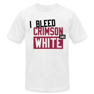 I Bleed Crimson And White  - Men's T-Shirt by American Apparel