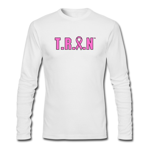 Men's Breast Cancer Awareness Long Sleeve - Men's Long Sleeve T-Shirt by Next Level