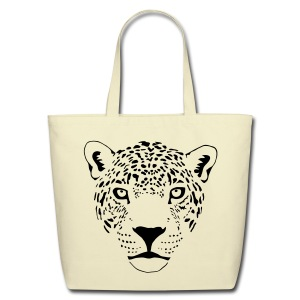 animal t-shirt jaguar cougar cat puma tiger panther leopard cheetah lion - Eco-Friendly Cotton Tote