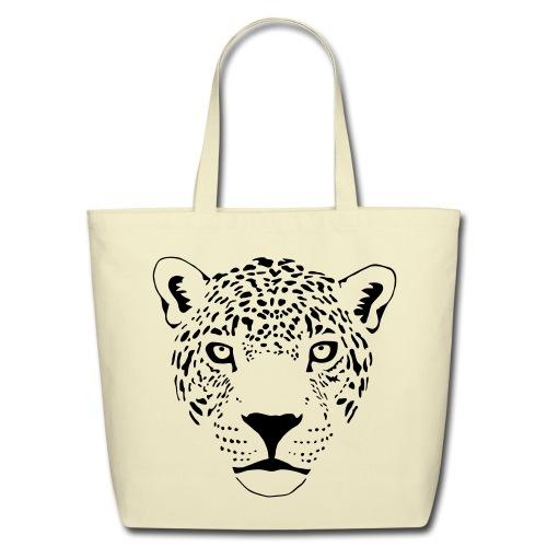 animal t-shirt jaguar cougar cat puma tiger panther leopard cheetah lion - Eco-Friendly Cotton Tote