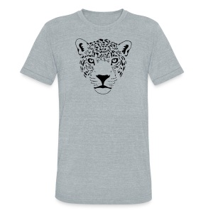 animal t-shirt jaguar cougar cat puma tiger panther leopard cheetah lion - Unisex Tri-Blend T-Shirt by American Apparel