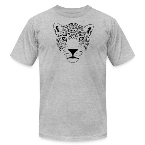 animal t-shirt jaguar cougar cat puma tiger panther leopard cheetah lion - Men's T-Shirt by American Apparel