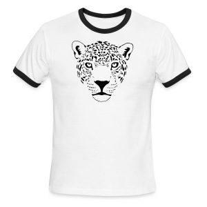 animal t-shirt jaguar cougar cat puma tiger panther leopard cheetah lion - Men's Ringer T-Shirt