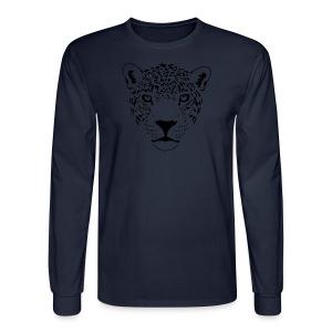 animal t-shirt jaguar cougar cat puma tiger panther leopard cheetah lion - Men's Long Sleeve T-Shirt