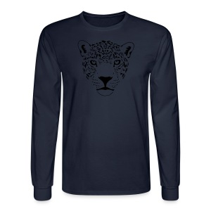 animal t-shirt jaguar cougar cat puma tiger panther leopard cheetah lion - Men's Long Sleeve T-Shirt