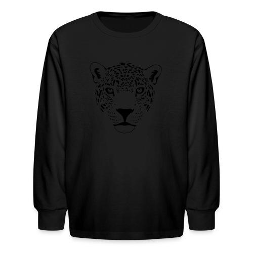 animal t-shirt jaguar cougar cat puma tiger panther leopard cheetah lion - Kids' Long Sleeve T-Shirt