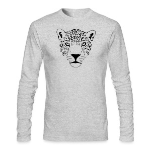animal t-shirt jaguar cougar cat puma tiger panther leopard cheetah lion - Men's Long Sleeve T-Shirt by Next Level