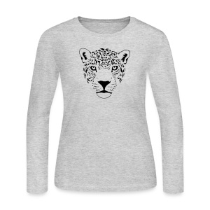 animal t-shirt jaguar cougar cat puma tiger panther leopard cheetah lion - Women's Long Sleeve Jersey T-Shirt