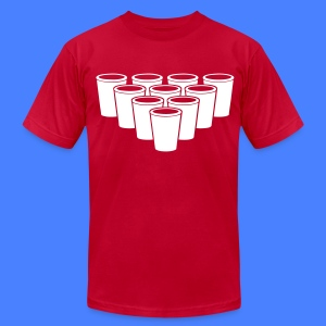 Beer Pong Cups - stayflyclothing.com T-Shirts - Men's T-Shirt by American Apparel