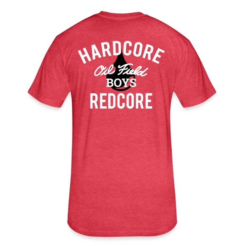 OFB HARDCORE REDCORE - Fitted Cotton/Poly T-Shirt by Next Level