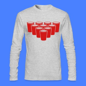 Beer Pong Cups - stayflyclothing.com Long Sleeve S - Men's Long Sleeve T-Shirt by Next Level
