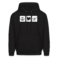 Hoodies ~ Men's Hoodie ~ Peace Love Spirit