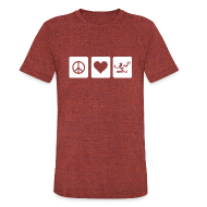 T-Shirts ~ Unisex Tri-Blend T-Shirt ~ Peace Love Spirit