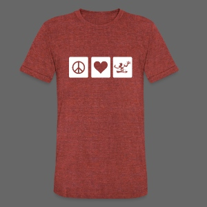 Peace Love Spirit - Unisex Tri-Blend T-Shirt by American Apparel