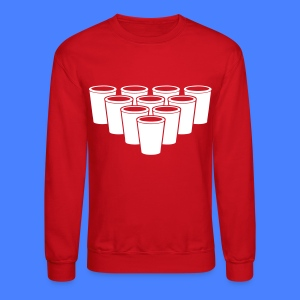 Beer Pong Cups - stayflyclothing.com Long Sleeve S - Crewneck Sweatshirt