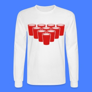 Beer Pong Cups - stayflyclothing.com Long Sleeve S - Men's Long Sleeve T-Shirt