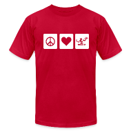 T-Shirts ~ Men's T-Shirt by American Apparel ~ Peace Love Spirit