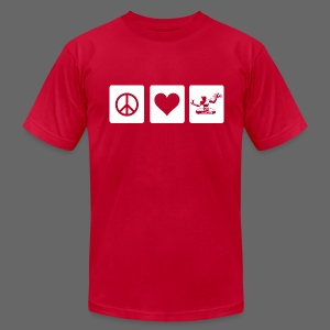 Peace Love Spirit - Men's T-Shirt by American Apparel