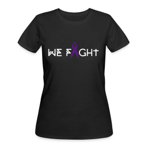 Women's We Fight 4HER Black Tee - Women's 50/50 T-Shirt