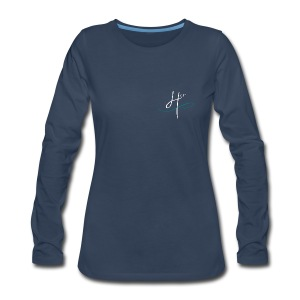 Women's Team 4HER Long Sleeve Navy Shirt - Women's Premium Long Sleeve T-Shirt