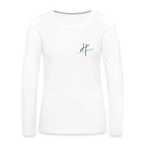 Women's Team 4HER Long Sleeve White Shirt - Women's Premium Long Sleeve T-Shirt