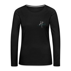 Women's Team 4HER Long Sleeve Black Shirt - Women's Premium Long Sleeve T-Shirt