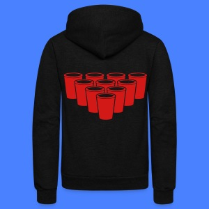 Beer Pong Cups - stayflyclothing.com Zip Hoodies/J - Unisex Fleece Zip Hoodie by American Apparel
