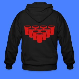 Beer Pong Cups - stayflyclothing.com Zip Hoodies/J - Men's Zip Hoodie